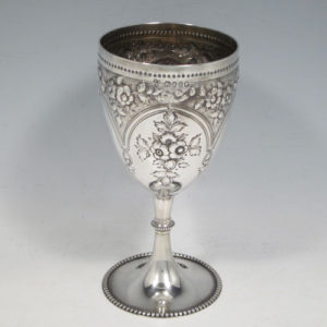 victorian, gothic, sterling silver, goblet, Edward Barnard of London in 1870