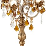 Victorian Gothic Golden Droplets 19.5 Inches High Candelabra Votive Candle Holder