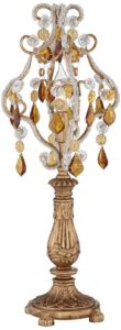 victorian gothic, gold, golden, amber, table lamp, lantermn, candelabra, candle holder, home, decor